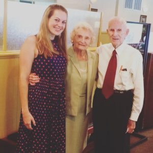 With my Grandma Frances & Grandfather; Lindsay K. Saunders July 10, 2016
