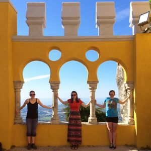 Gwen, and her sisters -- 2 of my other cousins, in Portugal in 2015