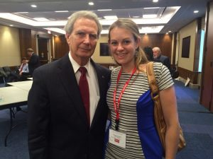 Lindsay with Rep. Walter Jones, July 21, 2015