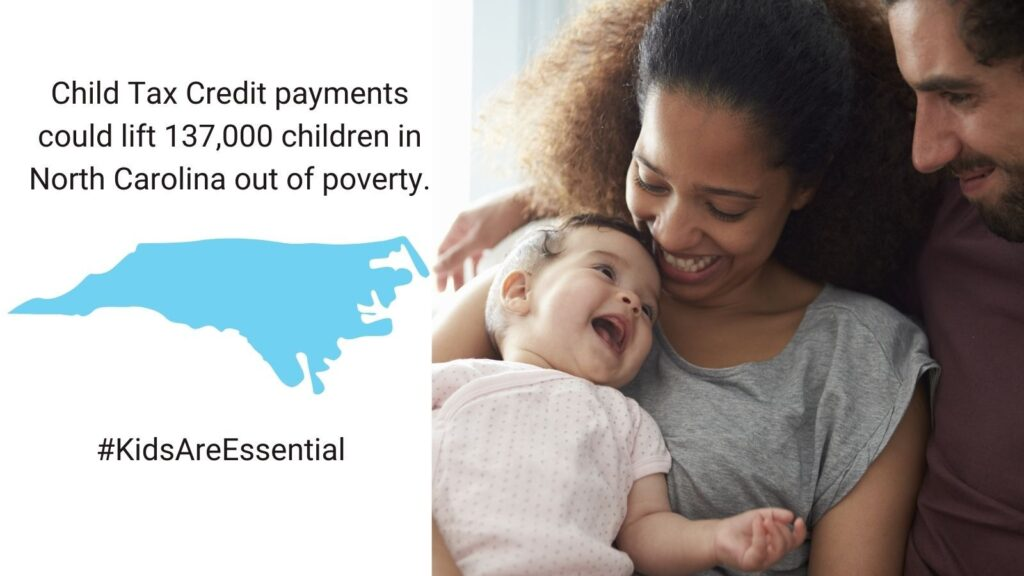In North Carolina, Child Tax Credit payments could lift 137,000 children out of poverty.